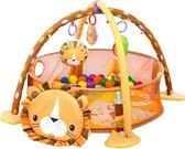 Toddly Babygym Leeuw - Baby Speelmat met Ballenbak - 48 x 66 cm