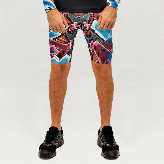 Heren – sportbroek – hardloopbroek – running shorts – Design Katre – Maat M