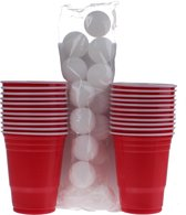 Out of the Blue red party cups Beer Pong