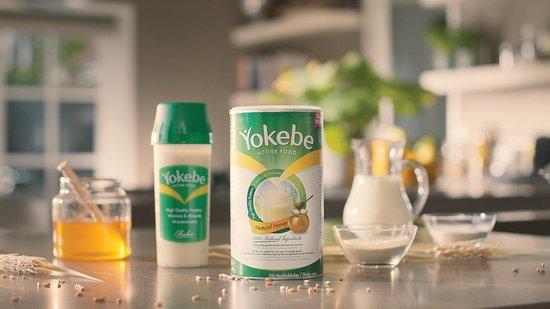 Duits Yokebe Natural Honey Maaltijdshake + Shaker - Helpt bij afvallen - Maaltijdvervanger - 480 gram - 10 porties