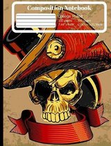 Pirate Captain College Ruled Composition Notebook