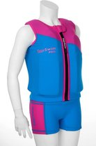 EasySwim Pro - Drijfpakje - Zwemvest & Zwembroek - Roze- M: 17-23 kg