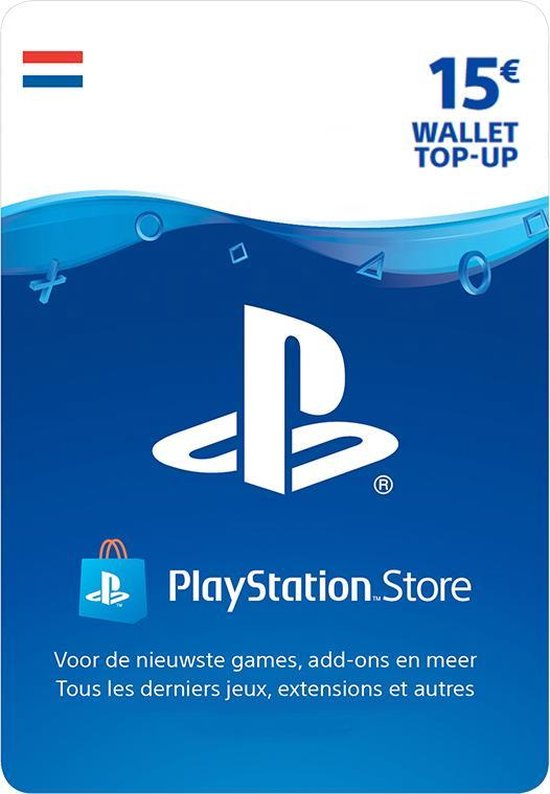 15 euro PlayStation Store tegoed - PSN Playstation Network Kaart (NL)