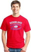 Rood heren t-shirt Nederland S