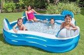 Intex Opblaasbaar zwembad met stoeltje