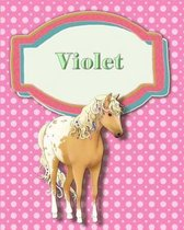 Handwriting and Illustration Story Paper 120 Pages Violet
