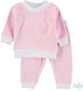 Feetje Wafel Pyjama Groen Melange Mt 74