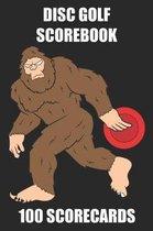 Disc Golf Scorebook 100 Scorecards