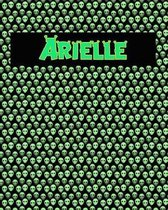 120 Page Handwriting Practice Book with Green Alien Cover Arielle