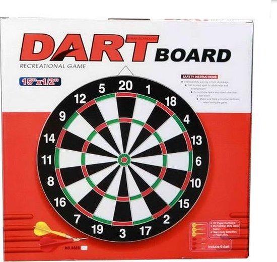 Afbeelding van het spel Dartbord 40 cm met 6 pijltjes