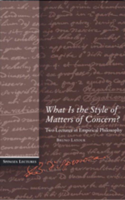 Cover van het boek 'What is the Style of Matters of Concern? / druk 1'