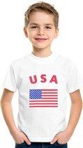 Kinder t-shirt vlag USA Xl (158-164)