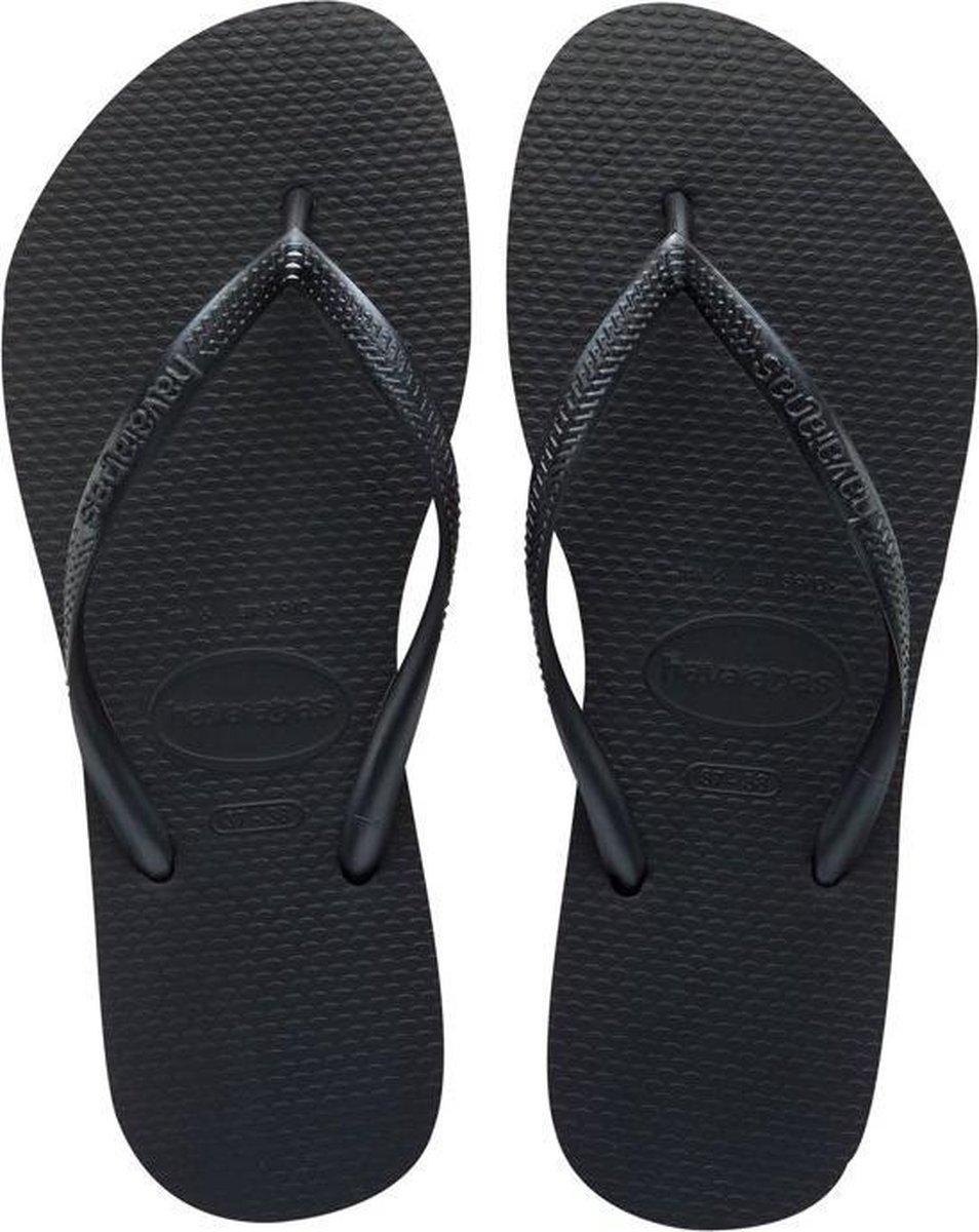 Havaianas Slim Dames Slippers - Black - Maat 41/42