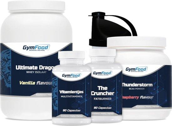 GymFood Droog Trainen Pakket - Cutten - Complete Lijn Supplementen - Strakker Lichaam - Maximaal Resultaat