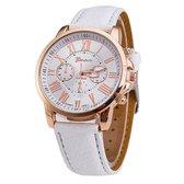 Horloge - Geneva - Roman - Metal - Wit