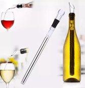 RVS IJs Wijn Stick | Wijnkoeler 3 in 1 | IceStick Koelstaaf | Wine Chiller inclusief Schenktuit | in mooie Geschenkverpakking