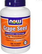 Druivenpit Extract, 100 mg (200 Vcaps) - Now Foods