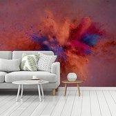 Fotobehang vinyl - Kleurrijke poederpexplosie breedte 360 cm x hoogte 270 cm - Foto print op behang (in 7 formaten beschikbaar)