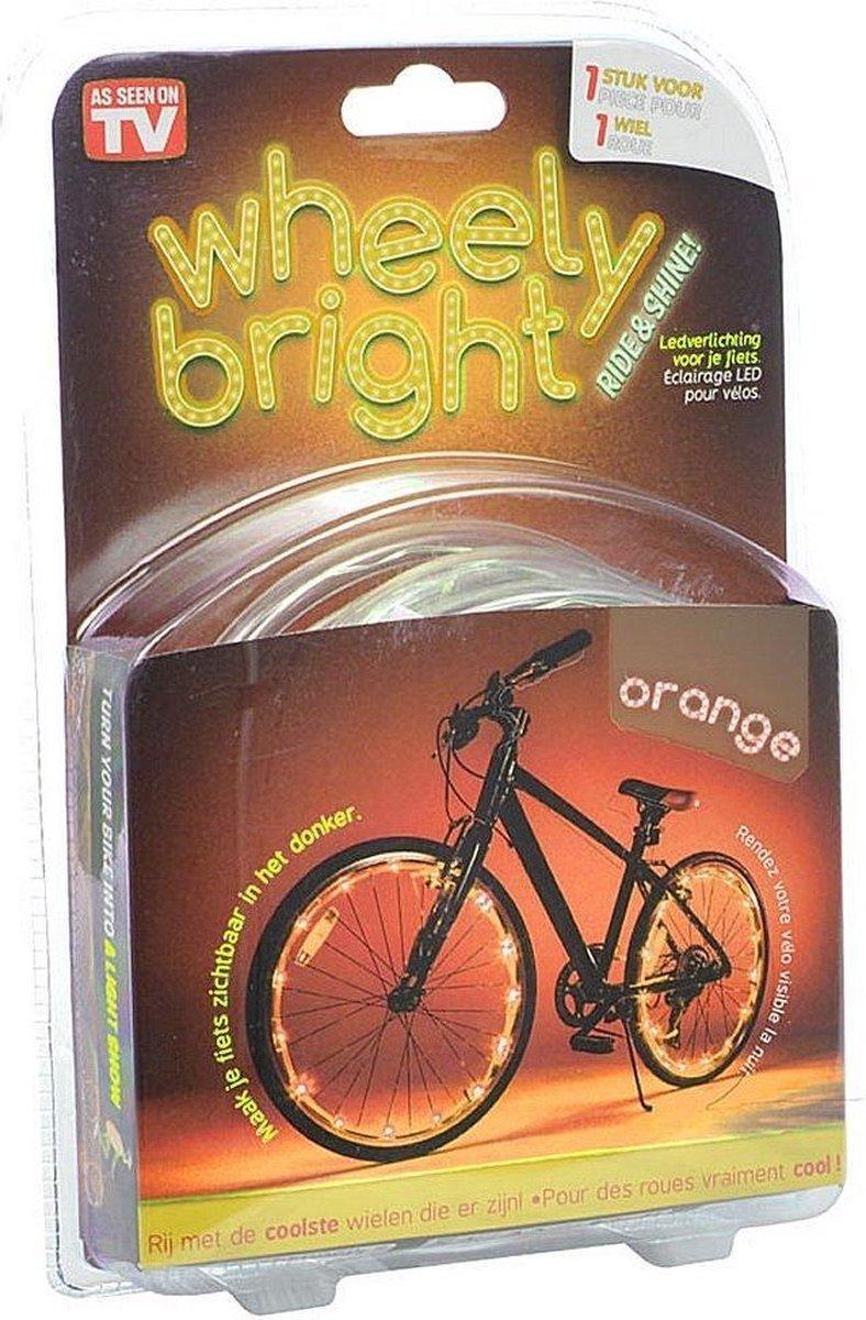Wheely Bright Oranje - 1 stuk - Fietswielverlichting
