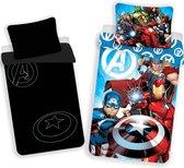 Marvel Avengers Glow in the Dark - Dekbedovertrek - Eenpersoons - 140 x 200 cm - Multi