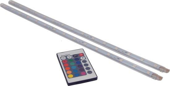 PROLIGHT LED strip line - RGB - 2x40cm - dimbaar - met afstandsbediening