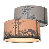 Plafondlamp Safari Silhouet Kinderkamer - Jongenskamer Verlichting met schaduw effect - Kinderlamp Slaapkamer Plafonnière - Land of Kids
