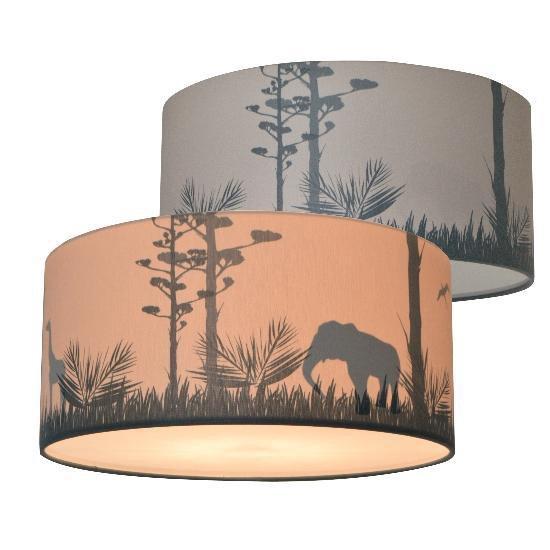 Plafondlamp Safari Silhouet Kinderkamer | Jongenskamer Verlichting met schaduw effect | Kinderlamp Slaapkamer Plafonnière | Land of Kids