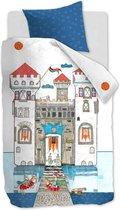 Beddinghouse Kids Knight Castle - Dekbedovertrek - eenpersoons - 140x200/220 cm - Blauw
