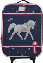 Milky Kiss Paarden Kinder Trolley - Navy Horse