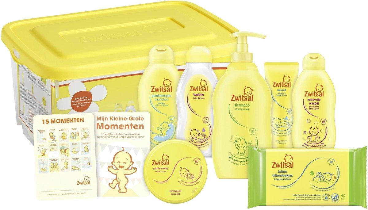 Zwitsal Baby Startersbox - 7 stuks - cadeaupakket