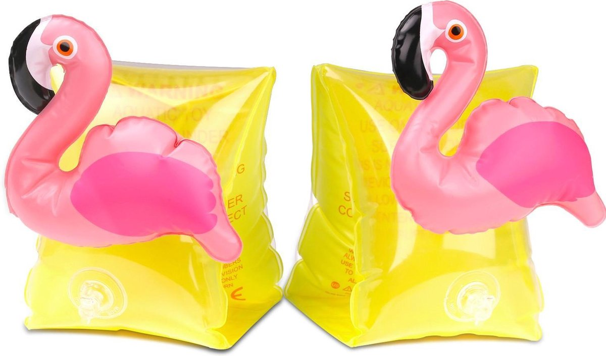 Flamingo zwembandjes - opblaasbaar - zwemband - zwemvleugels - zwemgordel - veilig - zwemmen - evooni - kinderen - 3-6 jaar - 15 tot 30kg - kers - aardbei - ananas - toekan - haai - unicorn - eenhoorn - krab