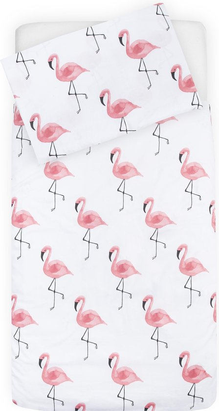 Dekbedovertrek Flamingo Peuter 120x150cm