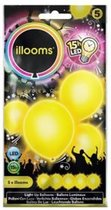 LED licht ballonnen geel 23 cm 5 stuks