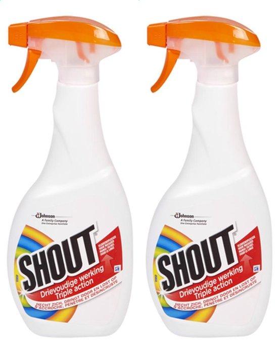 Shout Vlekkenoplosser spray Wasgoed 2 x 500 ml