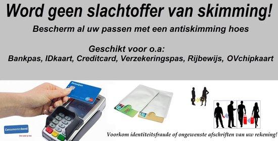 Anti Skim hoesje - Rfid - Beschermhoesje voor bankspas