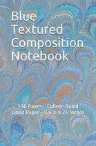 Blue Textured Composition Notebook