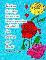 Coeur & roses livre de coloriage Pour toute occasion Envoyer des messages d'amour avoir l'habitude de d corer cartes de voeux souvenir Par artiste Grace Divine