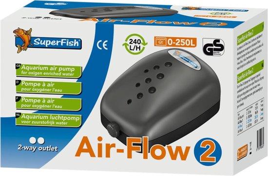 Superfish Air Flow 2 - Aquariumpomp - Beluchting - 2 uitgangen