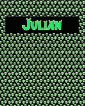 120 Page Handwriting Practice Book with Green Alien Cover Julian