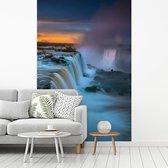 Fotobehang vinyl - Ochtendscène van de Iguazu watervallen in Brazilië breedte 180 cm x hoogte 270 cm - Foto print op behang (in 7 formaten beschikbaar)