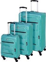 Kofferset / Trolleyset (mintgroen)