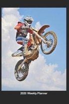 Plan On It 2020 Weekly Calendar Planner - Flying High - Motor Cross Dirt Bike - Extreme Sports
