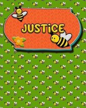 Handwriting Practice 120 Page Honey Bee Book Justice