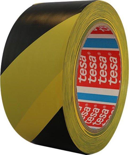 Vloermarkeringstape 5cm (Zwart/Geel)