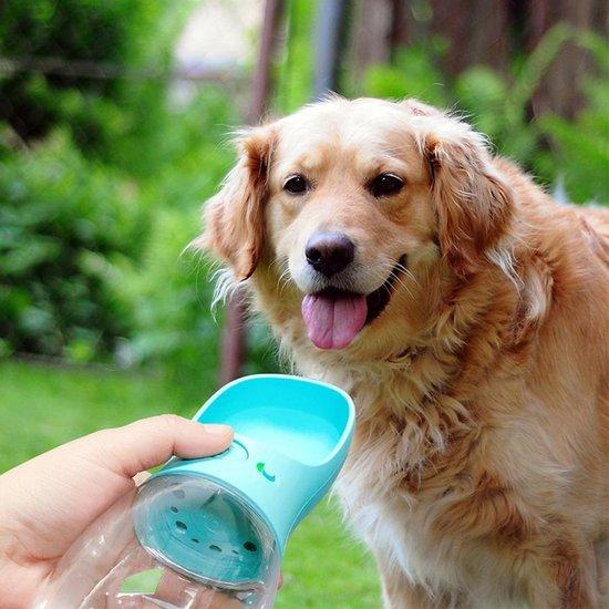 Waterfles 350ml - honden fles water - Honden  bidon - Honden Drinkfles  - WIT