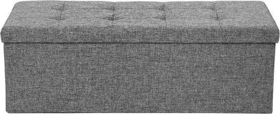 TecTake XL Opbergkist - Opvouwbaar - Zitkist - 110 x 38 x 38 cm - Lichtgrijs