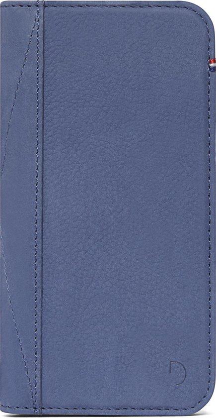 DECODED Wallet Case iPhone SE (2nd gen) / 8 / 7 / 6s / 6, Full Grain Leer (Light Blue)