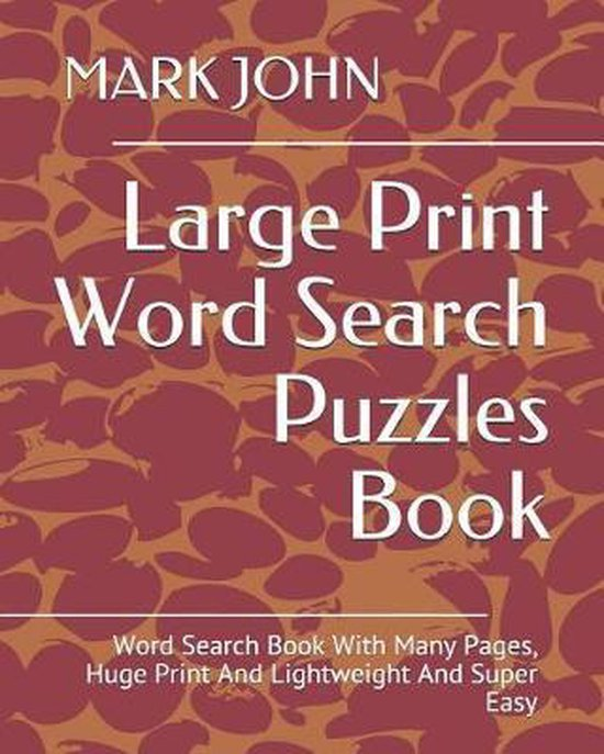 Large Print Word Search Puzzles Book