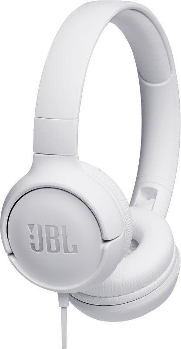 JBL T500 - On-ear koptelefoon - Wit