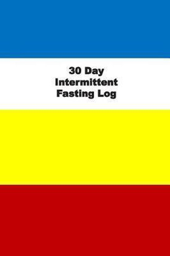 30 Day Intermittent Fasting Log